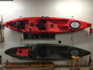 How To Hang Your Kayak In The Garage Bass Fishing Facts